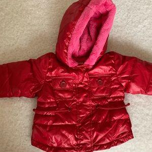🆕  Baby Gap Red/Fuchsia Puffer Jacket NWT